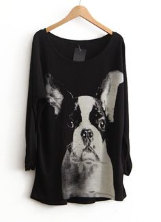 Boston Terrier sweater! eep! so cute :)