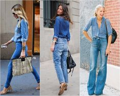 """Lembro de já ter falado sobre usar jeans com jeans aqui no blog, e lembro também que achei que essa """"moda"""" (que já se firmou e deixou de ser trend) não era para mim… Durante muuuuuuuuuuuuuuuito tempo continuei achando bonito nos outros, mas arriscado para minha pessoa. E eu amo jeans. Mas o look total …"""