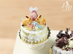 Beautiful Easter Spring Cake Decorated with by ParisMiniatures