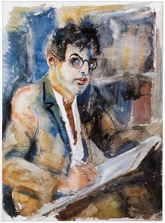 Rudolf Schlichter Self-portrait, probably from the 1920s.