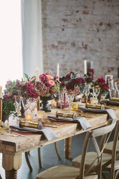 Jewel tones: http://www.stylemepretty.com/living/2015/10/15/dramatic-fall-tablescapes/