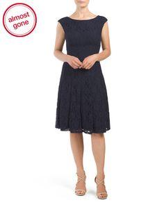Danny Cap Sleeve Tuscan Lace Dress