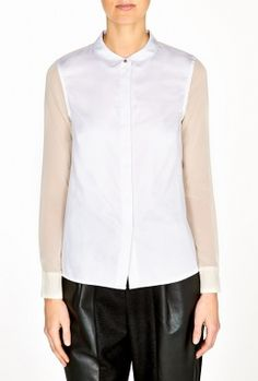 White Marble Harriet Blouse by J Brand