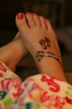This will be my next tattoo... I've sang this song to my girls since the first time I held them! <3
