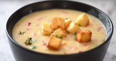 Potage au poulet Top Recipes, Cheeseburger Chowder, Cantaloupe, 20 Minutes, Fruit, Food, Steak, Slow Cooker Meatloaf, Cream Soups