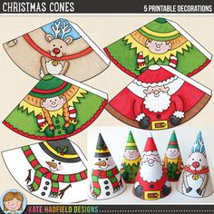 Christmas Cones - An easy, printable Christmas craft for kids to make - just print, cut out and assemble to create your own paper decorations! A fun Christmas craft that can be enjoyed year after year! Christian Christmas Crafts, Christmas Crafts For Kids To Make, Christmas Activities For Kids, Noel Christmas, Simple Christmas, Diy Crafts For Kids, Easy Crafts, Christmas Quotes, Christmas Decor