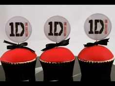One Direction Cupcakes! For the 1D fan in your life :)   This tutorial and more available for FREE on our YouTube channel MyCupcakeAddiction