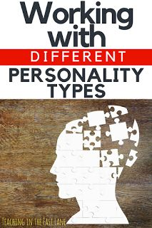 Five personality typ