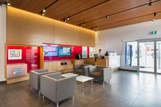 The interior design of the Envision Financial branch in Cloverdale