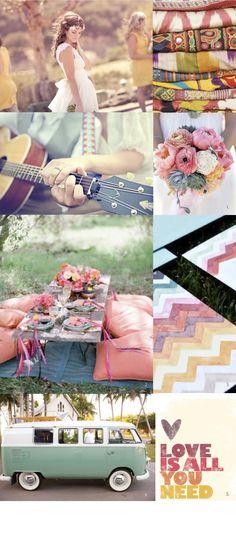 bohemian, prints, colour