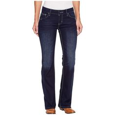 Cruel Abby cb47854071 (Indigo) Women's Jeans (105 AUD) ❤ liked on Polyvore featuring jeans, stitch's jeans, slim jeans, slim fit blue jeans, frayed jeans and zipper jeans