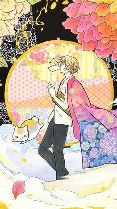 Natsume Yuujinchou - Natsume and Nyanko-Sensei group キリ Studio Ghibli Wallpaper, Natsume Takashi, Hotarubi No Mori, Mikuo, Natsume Yuujinchou, Pandora Hearts, Awesome Anime, Cute Wallpapers, Kawaii Anime