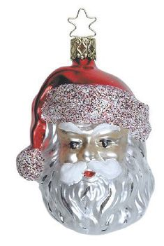 Santa - Christmas ornament from Inge-Glas of Germany. With symbol card:  Santa brings unselfishness and goodwill.  Available at www.mygrowingtraditions.com