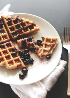 Blueberry Lemon Waffles | Gluten Free Vegan | Minimalist Baker