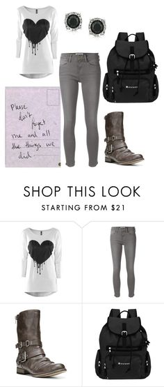 """""""Please don't forget me"""" by frizzynorse ❤ liked on Polyvore featuring Frame Denim, Carlos by Carlos Santana, Sherpani and Mark Broumand"""