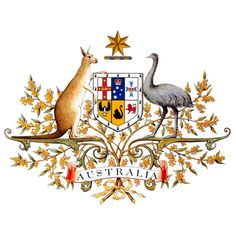 The type of government in Australia is a Democracy.  This is the sign for Australia's government. The capitol of Australia is Canberra. Canberra is Australian Capitol Territory and is home to many important places like The House of Representatives