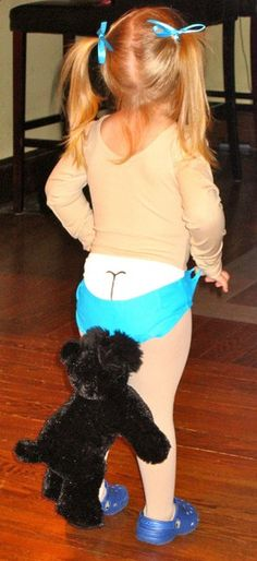 Coppertone baby Halloween costume I could totally see my hilarious niece doing this!! (AP)