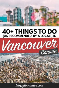 The absolute best things to do in Vancouver (and which tourist traps to avoid!) as recommended by a local. Read this before you visit Vancouver! Canada Vancouver, Visit Vancouver, Ottawa, Vancouver Vacation, Vancouver Travel, Ontario, Toronto, Alberta Canada, Travel Guides