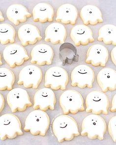 ~ happy little ghosts sugar cookies ~: