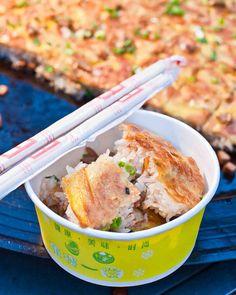 Life on Nanchang Lu: Shanghai Street Food #33 Three Delicacies Wrapped in Tofu Skin: San Xian Dou Pi 三鲜豆皮