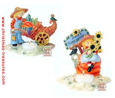 Scarecrow Boy and Girl T-Lite Holders