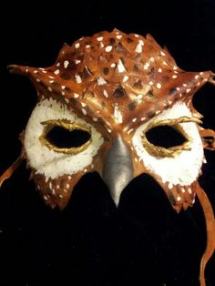 Leather owl mask
