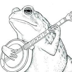 Ink Illustrations, Illustration Art, Animal Drawings, Art Drawings, Arte Punk, Frog Drawing, Posca Art, Frog Art, Arte Sketchbook