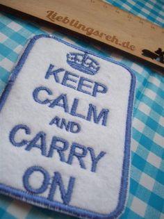 KEEP CALM embroidery