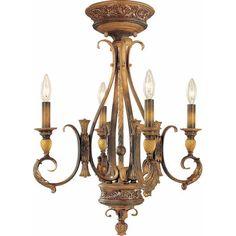 Volume Lighting Venetian 4 Light Foyer Pendant