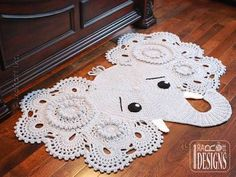 crochet elephant rug pattern free - Google Search