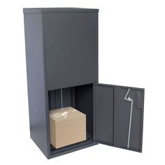Milkcan-565CHA-charcoal-parcel-pal-letterbox-back-open-800px