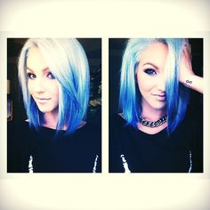 Ombre blue hair dye with Blonde!