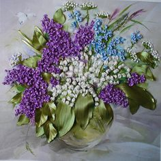 Kurdele İle Leylak Çiçeği Yapımı