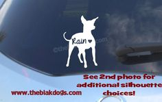 Toy Manchester Terrier sticker, dog breed silhouette, car decal, vinyl sticker, personalized gift, dog breed sticker, terrier silhouette by blakdogs on Etsy
