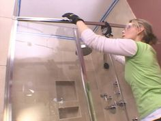 Installing a Glass Shower Door Shower Door Seal, Bathroom Shower Doors, Diy Shower, Glass Shower Doors, Glass Bathroom, Glass Door, Bathroom Ideas, Glass Installation, Bathroom Renovations
