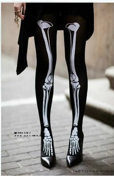 Skeletal Print TightsBlackLeg WarmerWomanGirl. by byrosali on Etsy, $35.00 @Kristin Ballard