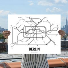 Berlin Print Black White