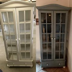 Kitchen closet painted with Chalk paint and wax #vintage #chalk #diy