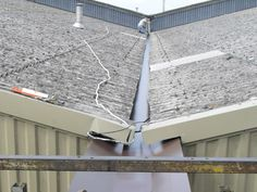 Valley guttering installation on farm / agricultural buildings