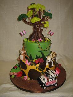 Amy Beck Cake Design - Chicago, IL - Jungle girl birthday cake - #amybeckcakedesign