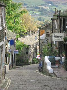 Main street, Haworth, West Yorkshire
