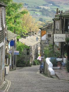 Main street, Haworth, West Yorkshire - home of the Brontes