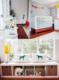 custom nursery fabric and prints