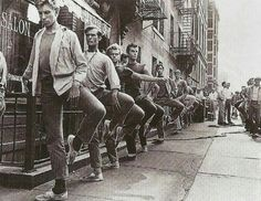 West Side Story cast practicing between filming.