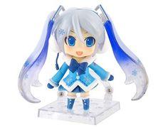 #Vocaloid #Hatsune Miku Yuki Miku Chibi Figure http://sweetstuff.storenvy.com/products/821750-yuki-miku-chibi-figure
