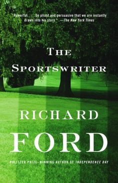 The Sportswriter is a 1986 novel by Richard Ford. It is about a failed novelist turned sportswriter who undergoes an existential crisis following the death of his son. - Wikipedia #sportsnovel
