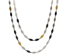 Sterling Silver layered with Blackened Silver and 24K Gold Willow Necklace by GURHAN