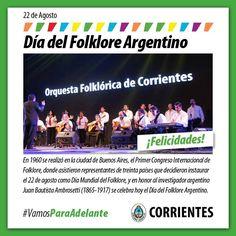 Día Mundial del Folklore y Día del Folklore Argentino #VamosParaAdelante