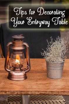 Tips for Decorating Your Entryway Table - great for those of us that have rotating decorations on our entryway tables! Home Interior Design, Home Design, Design Ideas, Decorating Tips, Interior Decorating, Living Vintage, Modern House Design, Country Decor, Entryway Tables