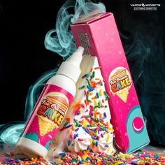 Ice Cream Cake Max VG vape juice by Vaper Treats tastes like a buttery sponge cake base mixed with rich ice cream and dashed in the right amount of fruity notes. Vaping, Cream Cake, Ice Cream, Juice Flavors, Vape Smoke, Buy Edibles Online, Vape Tricks, Vape Juice, Electronic Cigarette